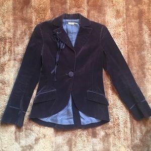 Women's Max Studio Brown Velvet Blazer Sz 4